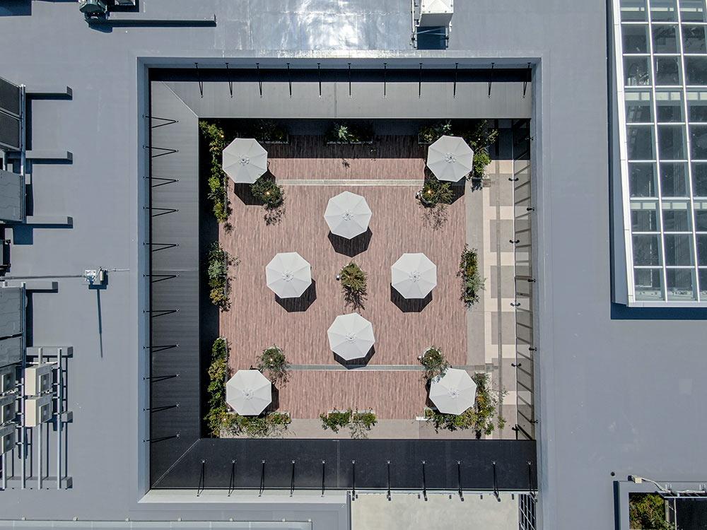 上空から見たカイタックスクエアガーデン