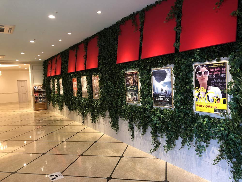 キノシネマ館内に張り出された映画の宣伝ポスター