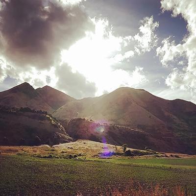 ニュージーランドの山の写真