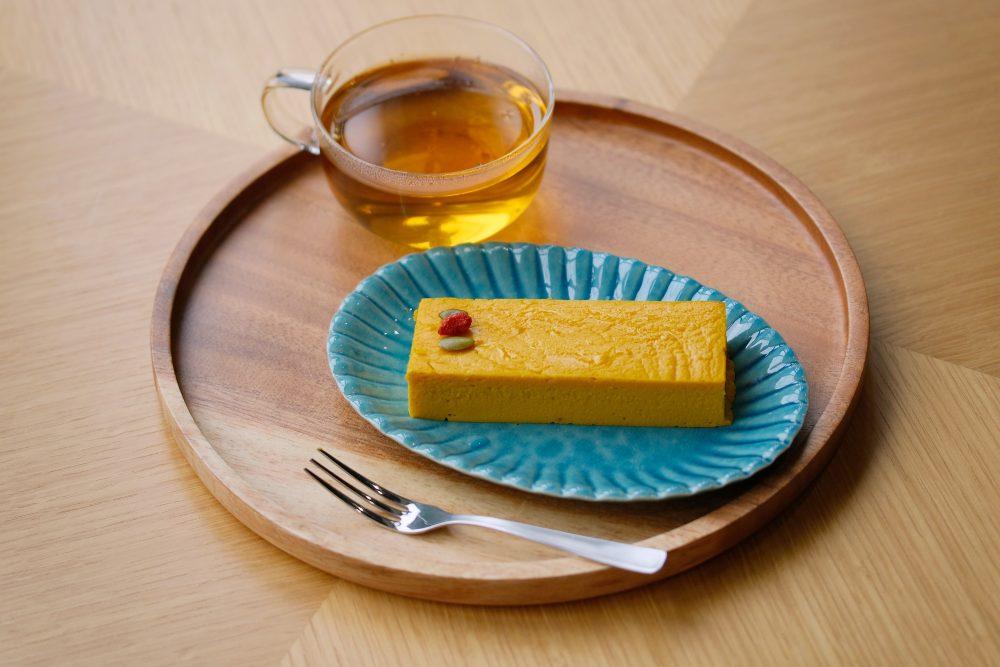 かぼちゃのチーズケーキセット