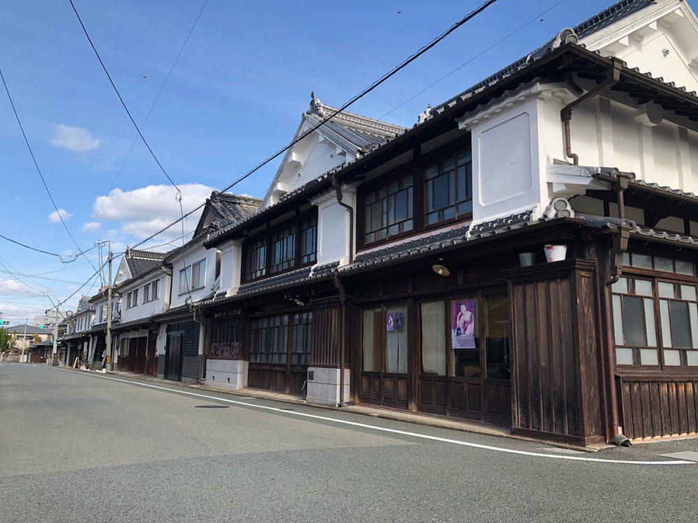 八女福島の白壁の街並み